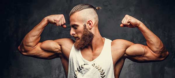 barbe et muscles